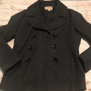 Michael kors gray knit pea coat